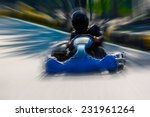 a man is driving go kart with... | Shutterstock . vector #231961264