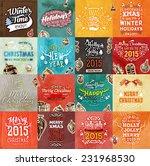 christmas vector vintage cards...   Shutterstock .eps vector #231968530