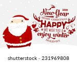 santa claus with merry... | Shutterstock .eps vector #231969808