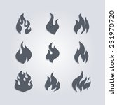 hot fire | Shutterstock .eps vector #231970720