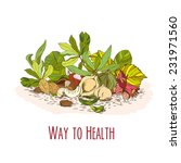 way to health   nuts poster ... | Shutterstock .eps vector #231971560