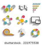 collection of infographic... | Shutterstock .eps vector #231975538
