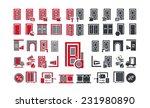 Set Of Varieties Of Doors Icons