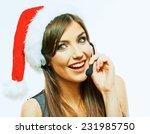 Smiling Call Center Operator ...