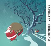 cute santa claus delivers... | Shutterstock .eps vector #231986998