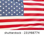 closeup of stars and stripes of ... | Shutterstock . vector #231988774