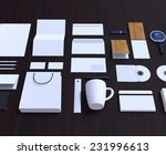 set of corporate design mockup... | Shutterstock . vector #231996613