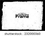 grunge frame   abstract texture.... | Shutterstock .eps vector #232000360