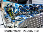 opened switch gear of a car | Shutterstock . vector #232007710