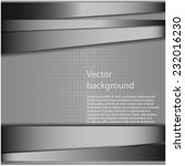 vector metal background.... | Shutterstock .eps vector #232016230