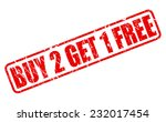 buy 2 get 1 free red stamp text ... | Shutterstock .eps vector #232017454