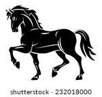 horse tattoo | Shutterstock .eps vector #232018000