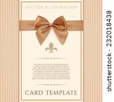 vintage greeting card template... | Shutterstock .eps vector #232018438