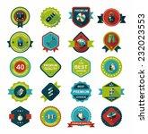 sport badge flat banner design...   Shutterstock .eps vector #232023553