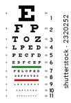 eye chart   Shutterstock . vector #2320252