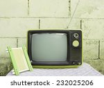 still life with old... | Shutterstock . vector #232025206