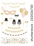happy new year cliparts... | Shutterstock .eps vector #232026730