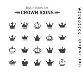 crown icons set. | Shutterstock .eps vector #232028506