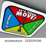 It's Your Move Words On A Game...