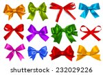 shiny satin ribbon on white... | Shutterstock . vector #232029226