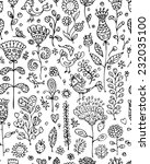 floral pattern sketch for your... | Shutterstock .eps vector #232035100