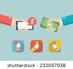 mobile. design vector... | Shutterstock .eps vector #232037038
