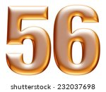 5   6 gold number on white... | Shutterstock . vector #232037698