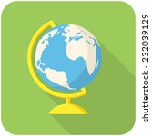 globe  modern flat icon with... | Shutterstock .eps vector #232039129