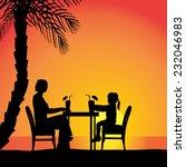 vector silhouettes of family... | Shutterstock .eps vector #232046983