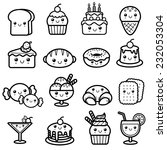 vector illustration of dessert  ... | Shutterstock .eps vector #232053304