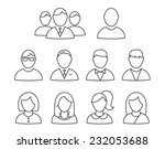 vector user profile icon set | Shutterstock .eps vector #232053688