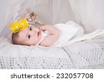 baby smiling with a crown | Shutterstock . vector #232057708