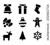 christmas icons set | Shutterstock .eps vector #232061716
