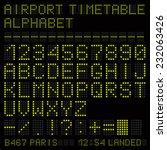 airport vector timetable green... | Shutterstock .eps vector #232063426