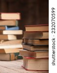 a stack of old books on the...   Shutterstock . vector #232070599