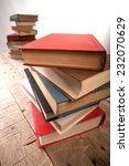 stack of old books isolated on...   Shutterstock . vector #232070629