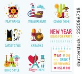 new year infographic   party...