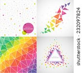 vector set of colorful abstract ... | Shutterstock .eps vector #232097824
