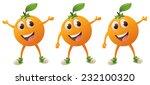 happy orange character in... | Shutterstock .eps vector #232100320