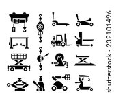 set icons of lifting equipment... | Shutterstock .eps vector #232101496