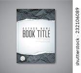 modern vector abstract book... | Shutterstock .eps vector #232106089