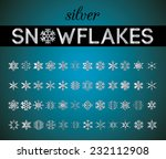 silver snowflakes | Shutterstock .eps vector #232112908
