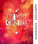 christmas card.  white merry... | Shutterstock .eps vector #232113694