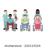 doctor and nurse with... | Shutterstock .eps vector #232115224