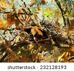 Abstract Oil Painting With A...