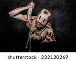 a scary looking scarecrow demon ... | Shutterstock . vector #232130269
