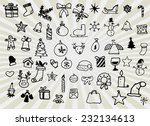 set of christmas icons | Shutterstock .eps vector #232134613
