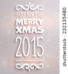 christmas typographic label for ... | Shutterstock .eps vector #232135480