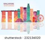 Singapore Skyline. Vector...