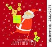 greeting christmas card with... | Shutterstock .eps vector #232141276